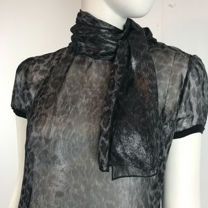 Vtge Dolce & Gabbana Sheer Silvery Blouse with Tie